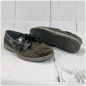 Sperry Top Sider Brown Suede Boat Shoes Mens 8